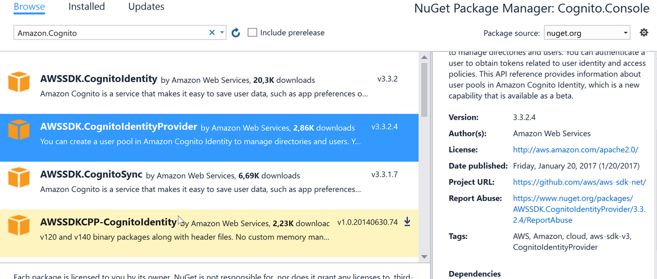 Introduction to Amazon Cognito – workstation configuration